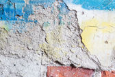 Closeup of a damaged graffiti wall — Stock Photo
