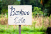 Handmade cafe sign — Stock Photo