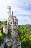 Lichtenstein castle in germany — Stock Photo