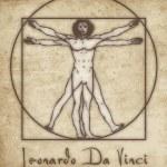 Постер, плакат: Vitruvian man leonardo