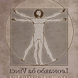 Vitruvian man leonardo — Stock Photo