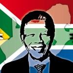 Mandela south africa symbol and flag — Stock Photo