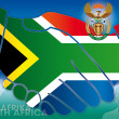 South africa symbols and flag — Stock Photo #37421937