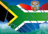 South africa symbols and flag — Stock Photo