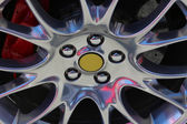 Sportscar wheel — Stock fotografie