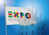 Expo 2015 with milan dome — Stock Vector