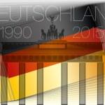 Germany flag and brandenburg gate — Stock Vector