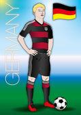 Germany soccer football player uniform 2014 — Stock Vector