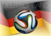 Germany flag and football ball — Stock Vector