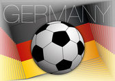 Germany flag and football ball — Stock Vector