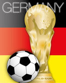 Germany winner 2014 and world cup — Stock Vector