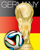 Germany winner world cup 2014 — Stock Vector