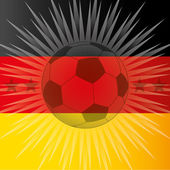 Germany flag and ball — Stock Vector