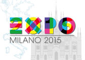 Expo 2015 milan italy symbol — Stock Vector