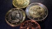Latvia euro coins pattern — Stok fotoğraf