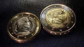 Latvia euro coins pattern — Foto de Stock