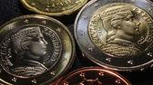 Latvia euro coins pattern — Foto Stock
