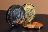 Latvia euro coins — Stok fotoğraf
