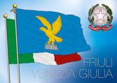 Friuli regional flag, italy — Stock Vector