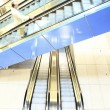 Escalator intersection — Stockfoto