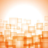 Abstract orange background with squares — Stock Vector