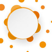 Orange speech bubble background — Stock Vector
