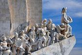 Monumento a los descubrimientos, lisboa, portugal — Foto de Stock