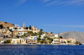 Greek harbour — Stock Photo