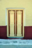 Greek door — Stockfoto