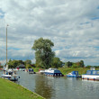 Boats on the Norfolk Broads, England. — Stok fotoğraf