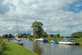 Boats on the Norfolk Broads, England. — Stock Photo