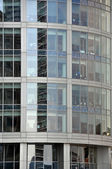 Modern glass & steel office block — Stock Photo