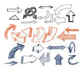 Drawn Arrows — Stock Vector