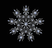 Diamond Snowflake — Vettoriale Stock