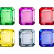 Stock Vector: Colored Gems