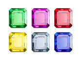 Colored Gems — Stock Vector