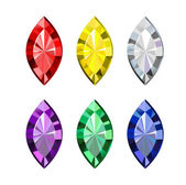 Colored Gems — Vettoriale Stock