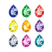 Pierres précieuses de couleur — Vecteur