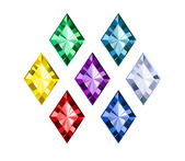 Colored Gems — Vector de stock
