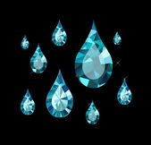 Diamond Drops — Stock Vector