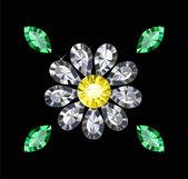 宝石の花 — ストックベクタ
