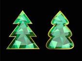 Emerald Christmas Tree — Wektor stockowy
