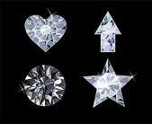 Diamond Symbols — Vector de stock