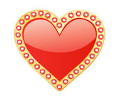 Heart With Gems — Stock Vector