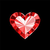 Klejnot serca — Wektor stockowy