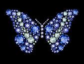 Gem Butterfly — Stock Vector