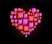 Bijou coeur — Vecteur
