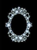 Diamond Mirror Frame — Stock Vector
