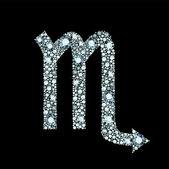 Diamond Scorpio Symbol — Stock Vector