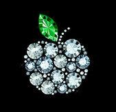 Diamond Apple — Stock Vector